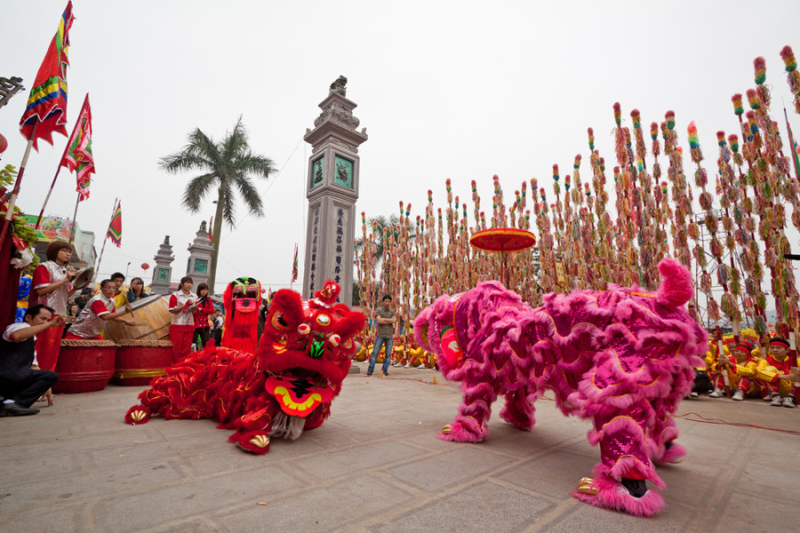 lion dancers - Chinese New Year Dragon Dance